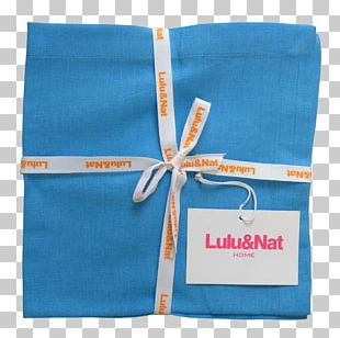 Cloth Napkins Textile Turquoise Blue Woven Fabric PNG