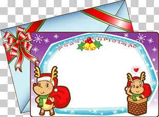 Wedding Invitation Christmas Card PNG