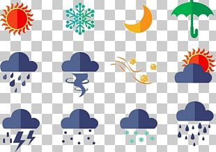 Euclidean Rain Weather Icon PNG