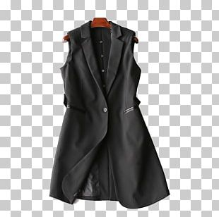 Black Overcoat Blazer Suit Windbreaker PNG