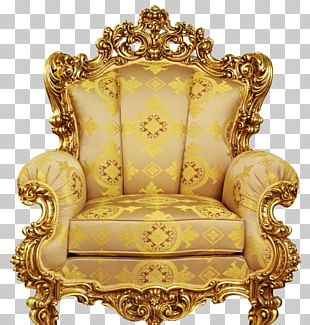 Table Chair Throne Upholstery Furniture PNG