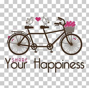Wedding Invitation Tandem Bicycle PNG