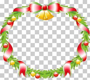 Wreath Christmas Decoration Santa Claus PNG
