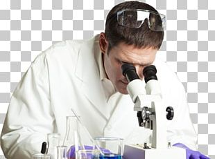 Scientist Laboratory Desktop Research Microscope PNG