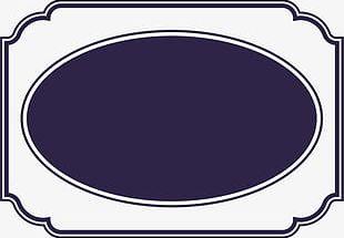 Blue Circle Frame PNG