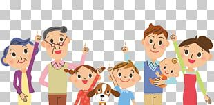 Cartoon Family Illustration PNG