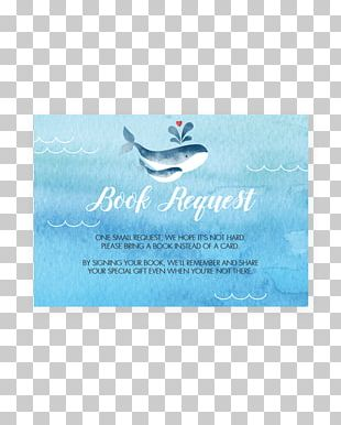 Baby Shower Wedding Invitation Blue Whale Cetacea PNG