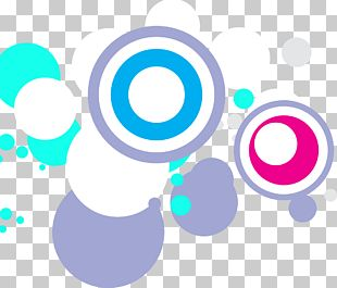 Round Decorative Pattern Material PNG