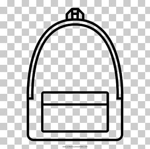 Coloring Book Line Art Drawing Backpack Black And White PNG