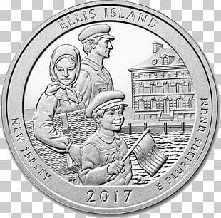 Ellis Island Statue Of Liberty Cumberland Island America The Beautiful Silver Bullion Coins PNG