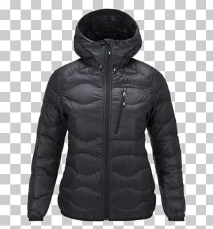 Jacket Hoodie Clothing Coat Down Feather PNG