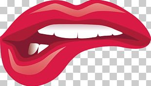 Lip Kiss Cartoon PNG