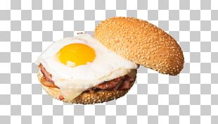 Breakfast Sandwich Cheeseburger Hamburger Fast Food Slider PNG