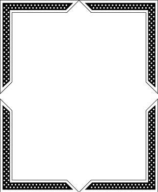 Paper Black And White Frame Line Angle PNG