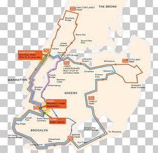 2018 Five Boro Bike Tour Bicycle Touring NYC Century Bike Tour Map PNG