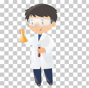 Science Scientist Laboratory Beaker Illustration PNG