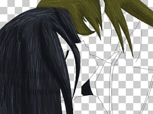 Art Anime Black Hair Painting PNG