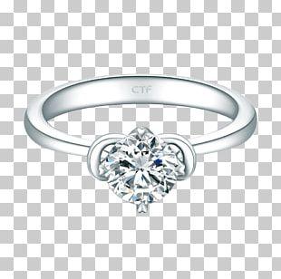Carat Ring Gemstone Silver Diamond PNG
