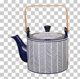 Teapot Kettle White Tea Blue PNG