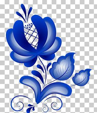 Ornament Floral Design Gzhel Visual Arts PNG