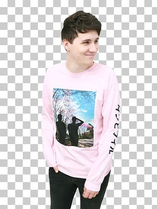 Dan Howell T-shirt Dan And Phil The Amazing Book Is Not On Fire PNG