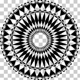 Mandala Sacred Geometry Art PNG