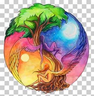 Yin And Yang Earth Drawing PNG