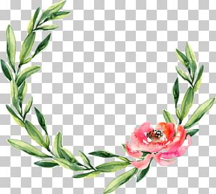 Wreath Watercolor Painting Wedding Garland Christmas PNG