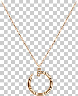 Necklace Jewellery Cartier Gold Diamond PNG