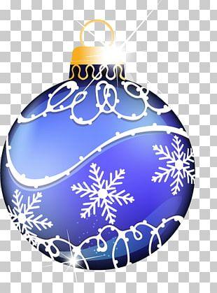 Christmas Ornament Blue Snowflake Christmas Decoration PNG