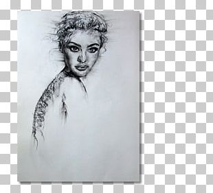Portrait Figure Drawing Black And White Sketch PNG