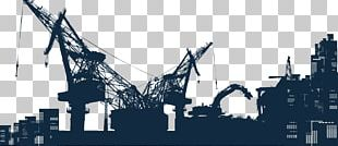 Architectural Engineering Silhouette Crane Heavy Equipment PNG