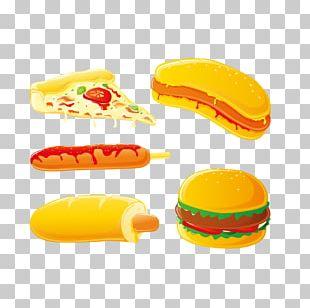 Hamburger Hot Dog Pizza Sausage Fast Food PNG