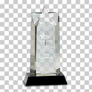 Trophy Crystal Award Engraving Commemorative Plaque PNG
