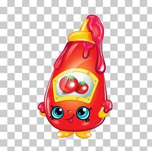 Shopkins Ketchup Chocolate Bar Fast Food PNG