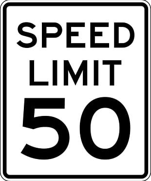 United States Speed Limit Traffic Sign Road PNG