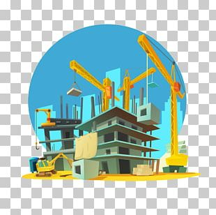Architectural Engineering Cartoon Building Crane PNG