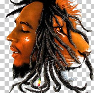 Bob Marley Lion Rastafari Reggae Zion PNG