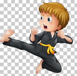 Karate Martial Arts Kick Illustration PNG