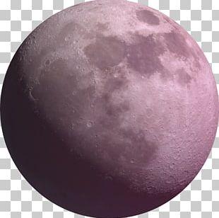 Paper Moon Purple Sphere Lunar Phase PNG