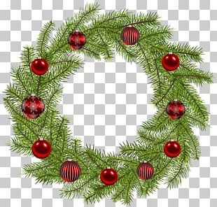 Christmas Ornament Wreath PNG