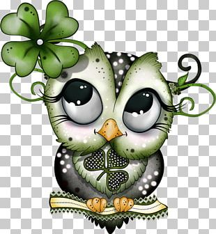 Barn Owl Bird Saint Patrick's Day Paper PNG