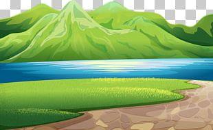 Green Mountains Green Mountain Lake Illustration PNG
