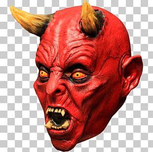 Lucifer Latex Mask Satan Devil PNG