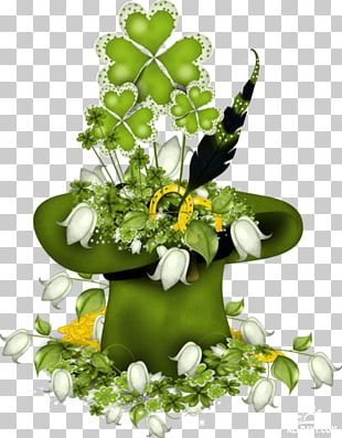 Saint Patrick's Day Floral Design Holiday Party PNG