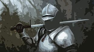 Late Middle Ages Knight Plate Armour Medieval Warfare PNG