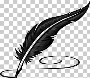 Paper Quill Pen Inkwell PNG