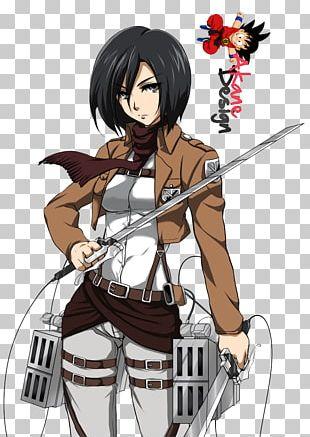 Mikasa Ackerman Eren Yeager Armin Arlert Attack On Titan Manga PNG