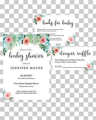 Baby Shower Diaper Wedding Invitation Garden Convite PNG