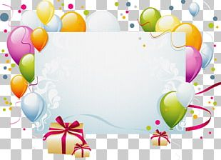 Birthday Cake Party Christmas Card Convite PNG
